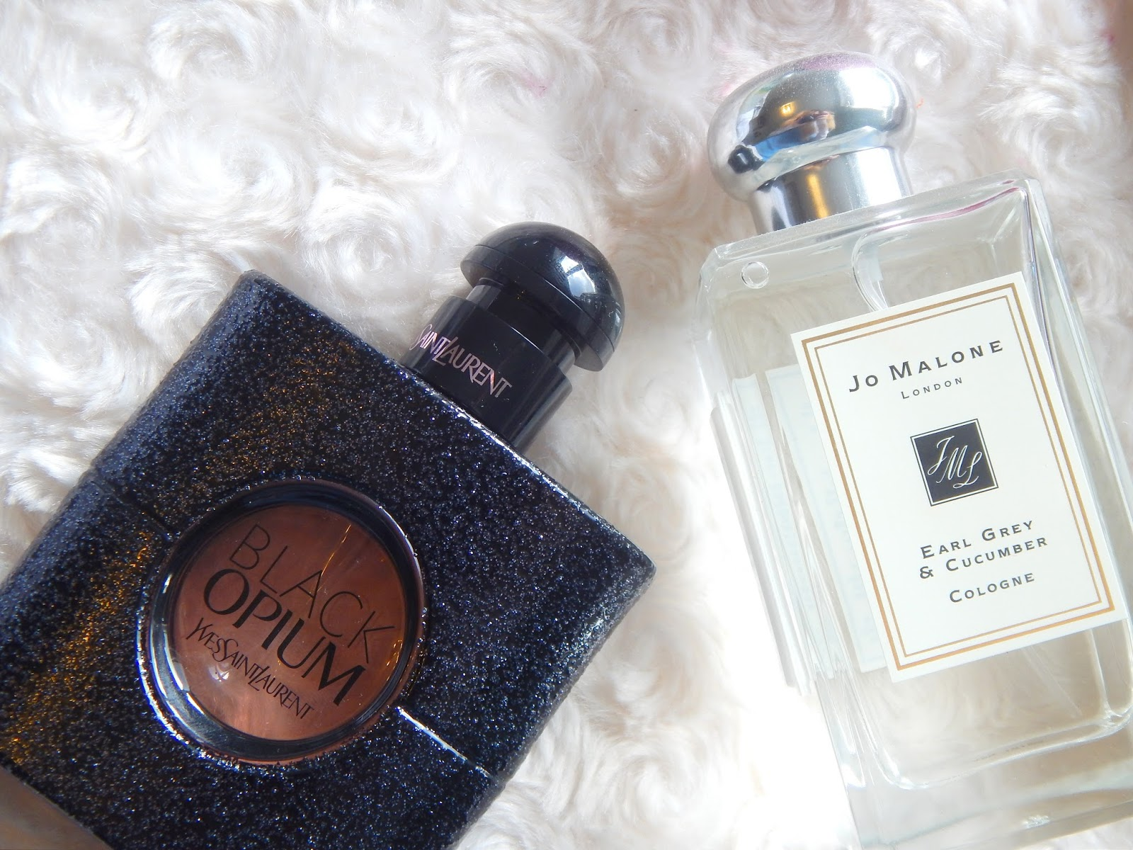 YSL Black Opium and Jo Malone Earl Grey and Cucumber
