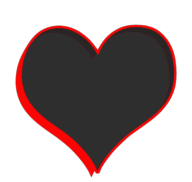 heart color drop