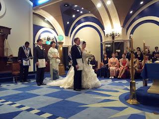 imagen de una boda masónica