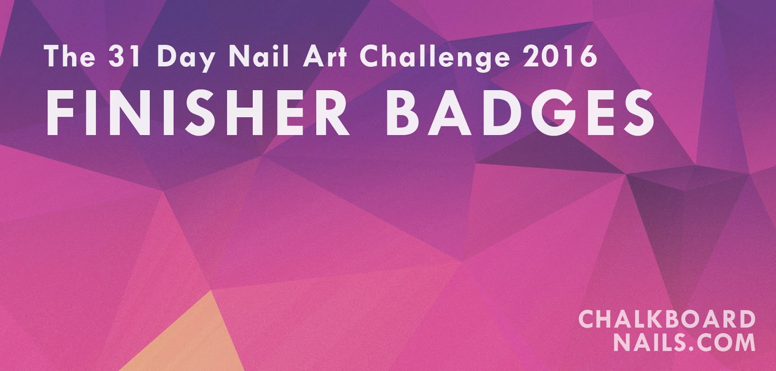 The 31 Day Nail Art Challenge 2016 Finisher Badges
