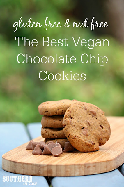 The Best Vegan Chocolate Chip Cookies Recipe – low fat, gluten free, vegan, refined sugar free, dairy free, egg free, nut free,  clean eating recipes