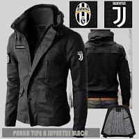 Jual Jaket Bola Parka Juventus Type A Logo Lepas Pasang Murah