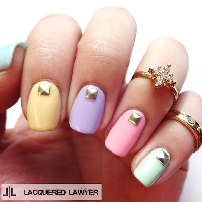 lacquered lawyer  nail art blog easy easter