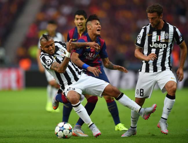 barcelona cae 3-0 ante la juventus en turin