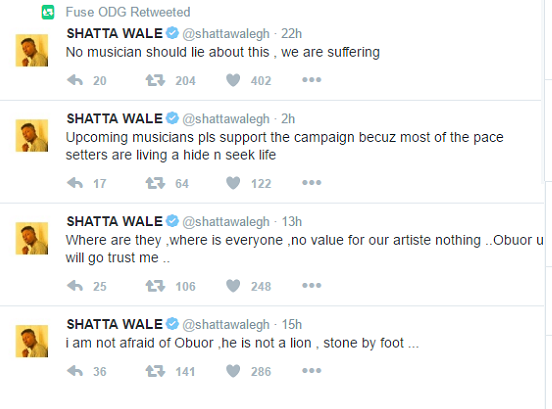 Shatta Wale wants Musicians union president removed, accuse his administration of fraud iGoTell