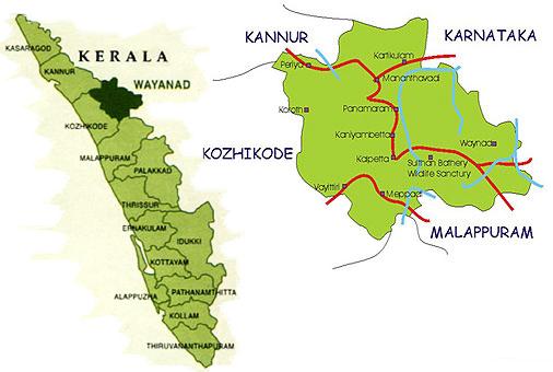 map wayanad