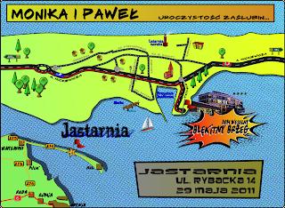 Mapka w stylizacji komiksowej