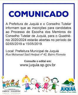 Prefeitura e CMDCA iniciam processo de inscrições dos candidatos a Conselheiros Tutelares.
