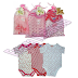 Set Short Sleeve Romper for Baby 3PCS