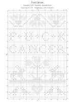 grille noir blanc du modèle de point de croix Fuck Cancer par Filambulle