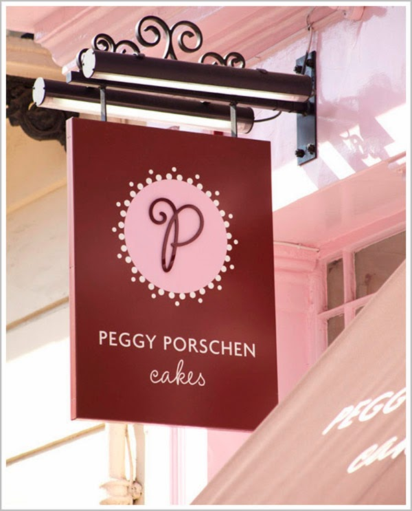 Peggy Porschen Cakes, Shop sign