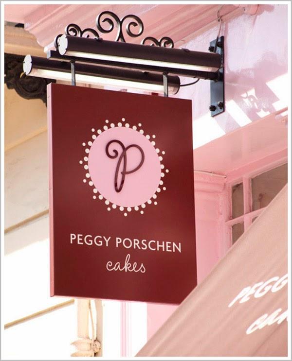 Peggy Porschen Cakes, Shop sign