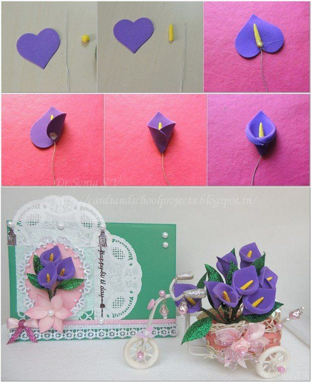 Cómo hacer flores con fomi o goma eva ~ Solountip.com