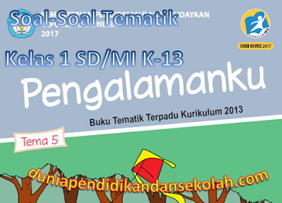 Soal-Soal Tematik Tema 5 Pengalamanku Kelas 1 SD/MI Subtema 1, 2, 3, dan 4 K-13 Revisi 2017