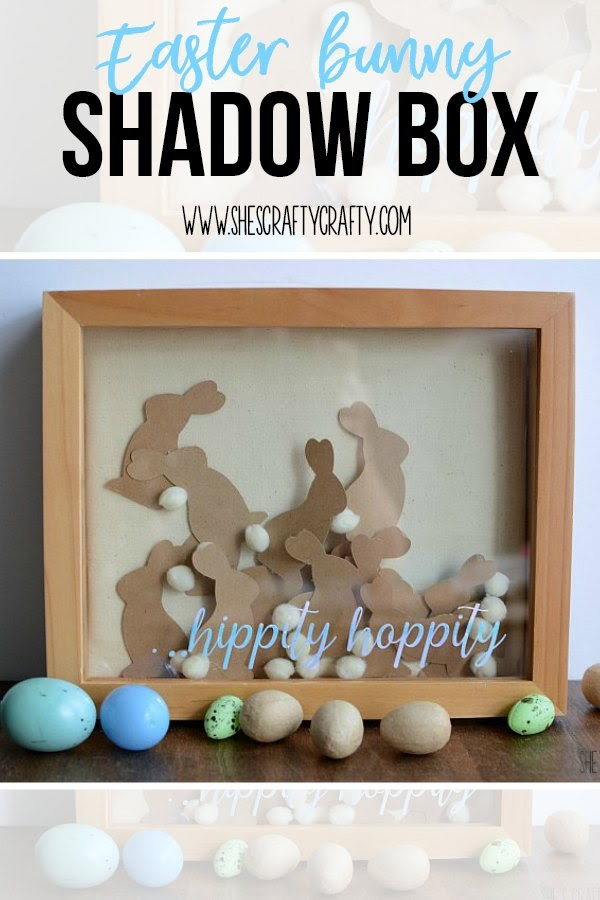 How to make an Easter bunny shadow box with holographic vinyl