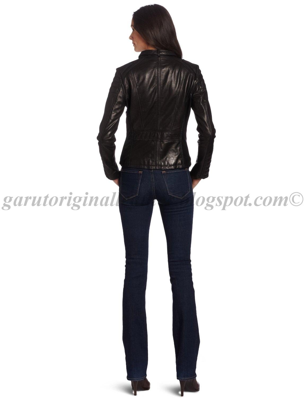 Jaket Kulit Wanita Sporty Harga Menawan Garut Original Leather