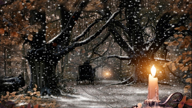 Live Winter Snow Fall Background Wallpaper Wallpapershdview Com Christmas Candle Lights Hd