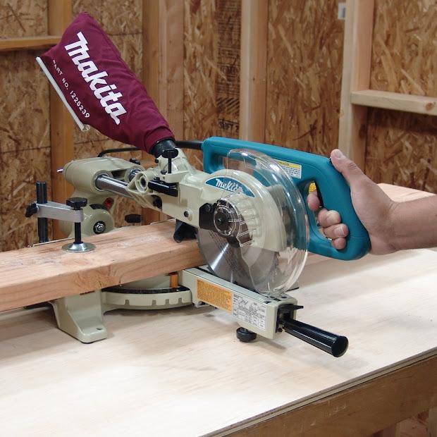 Makita Ls0714 Quad 10 Amp 7 12- Sliding Compound Miter - Cordless Drill Kit