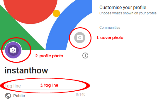 google plus customize profile