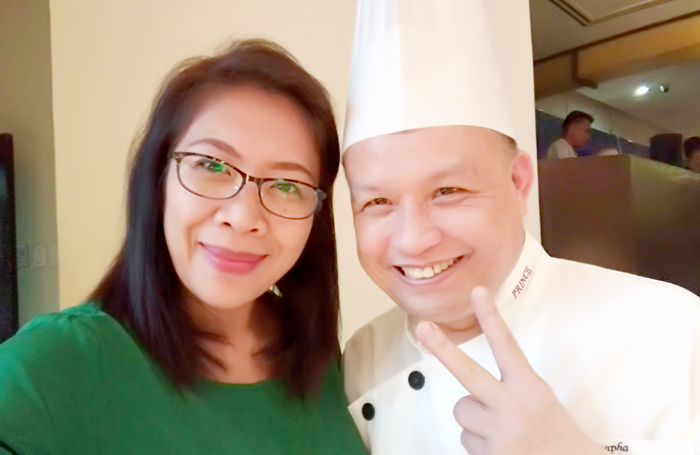 With Chef Nontra-Udon Baupha at Marco Polo Davao