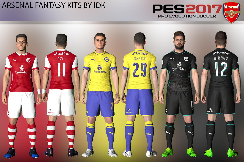 PES 2017: Arsenal FC Fantasy Kits V1 By IDK