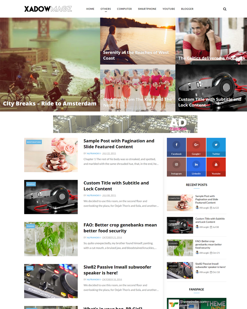 XadowMagz blogger theme
