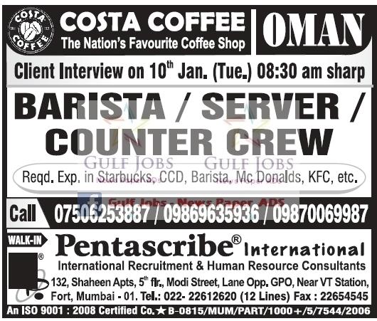 Costa Coffee Jobs, Vacancies & Careers - Caterer