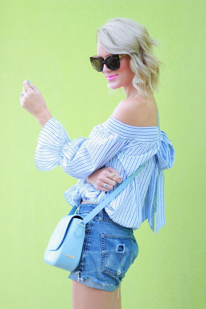 4c5871a227a Belle de Couture: Off-the-Shoulder Bow Top