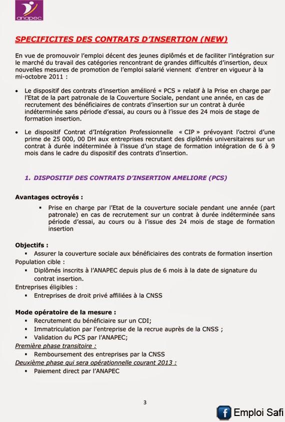 Contrat Anapec Maroc Vinny Oleo Vegetal Info