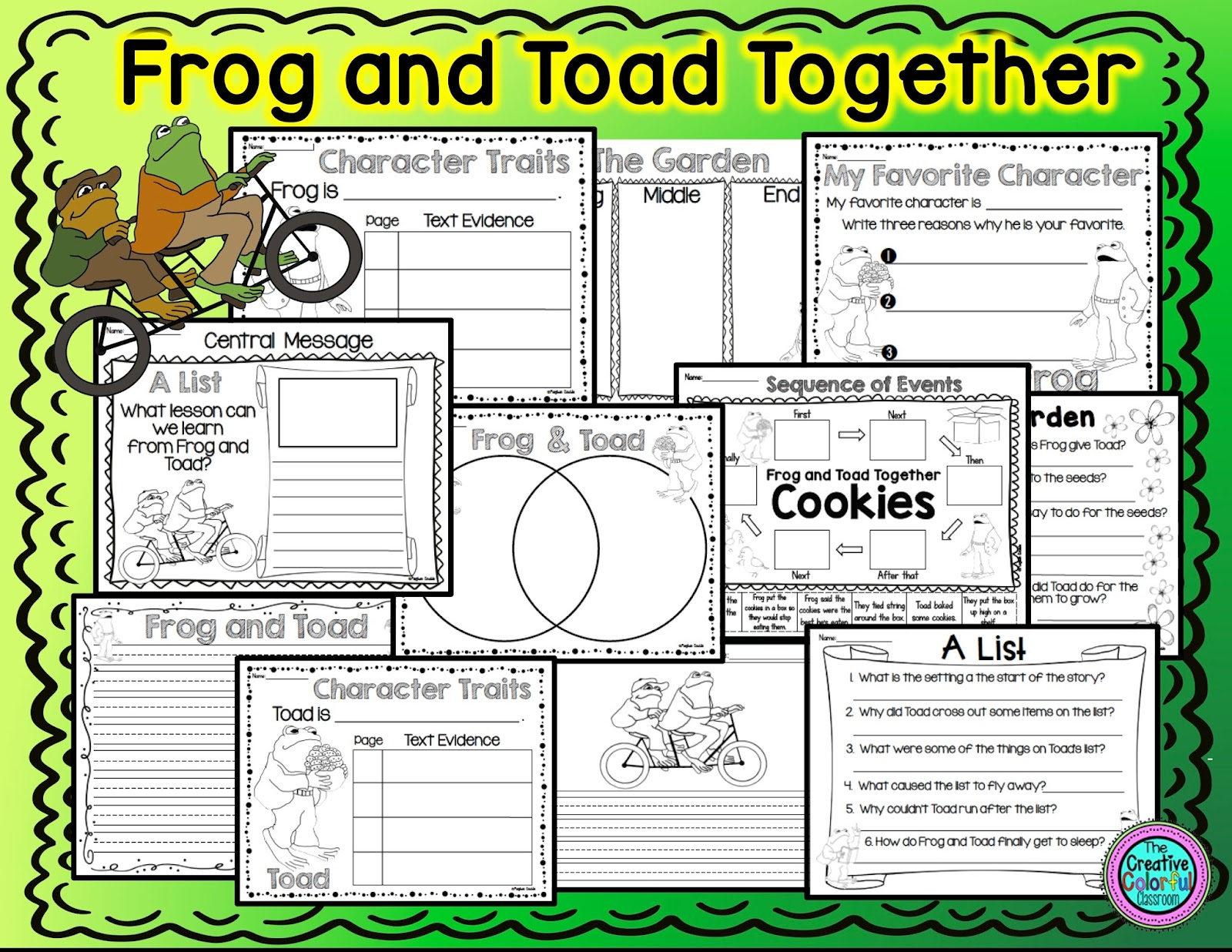 The Creative Colorful Classroom Frog And Toad And