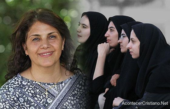 Mujer musulmana convertida al cristianismo