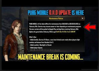 Maintenance server PUBG Mobile untuk Update PUBG Mobile hadirkan Mode Zombie