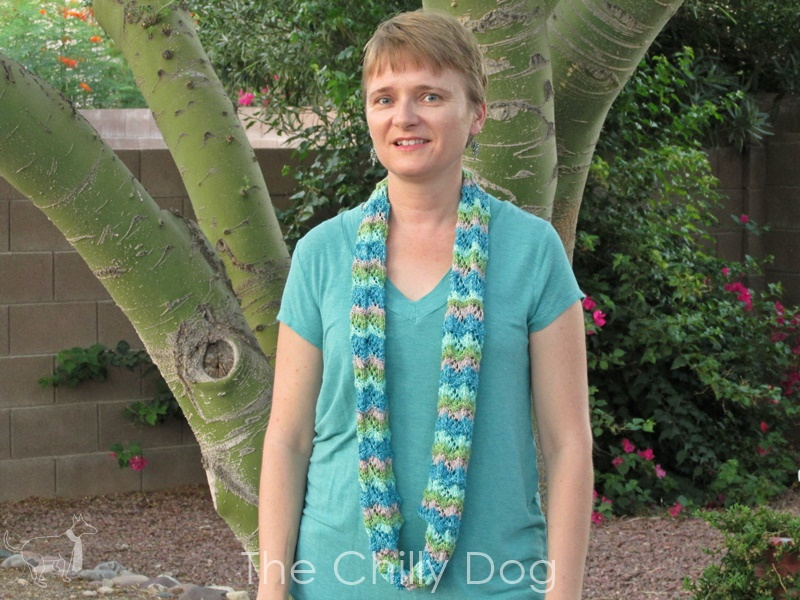 Knit Pattern: Chinese Fans Infinity Scarf | The Chilly Dog