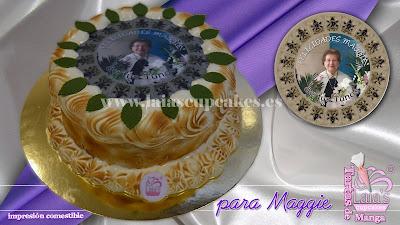 tarta personalizada fondant impresión comestible limón maggie clavaria semana santa cumpleaños laia's cupcakes puerto sagunto