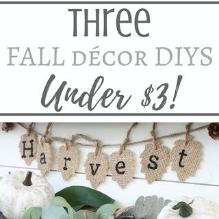 3 Fall DIYS Under $3