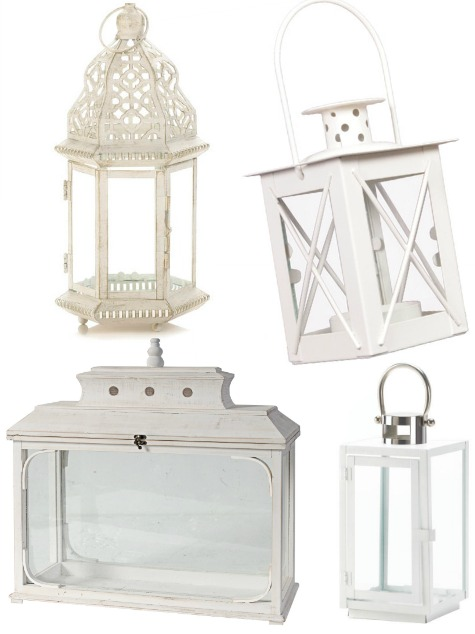 White Metal Lanterns