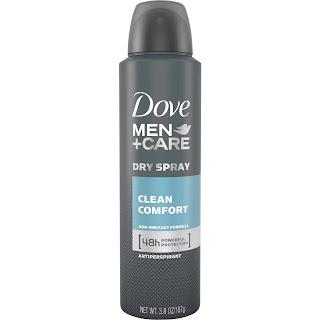 Xịt Khử Mùi Cho Nam Dove Men+ Care Dry Spray Clean Comfort