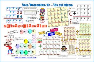 Día del Idioma, Día del Libro, Criptoaritmética, Criptosuma, Alfaméticas, Criptogramas, Sopa de Letras, Jeroglíficos, Uno más, Desafíos matemáticos, Retos matemáticos, Problemas matemáticos, Pombo, Homenaje a Pombo