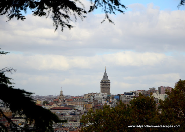 view of Galata Tower from Topkapi