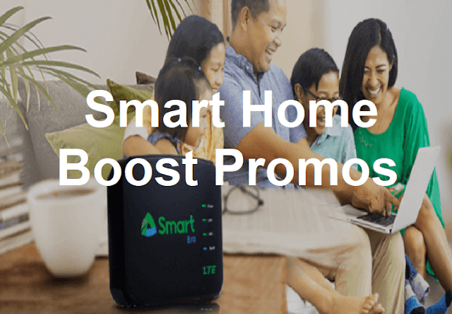 Complete List of Smart Home Boost Promos - 1GB, 3GB, 10GB and 15GB