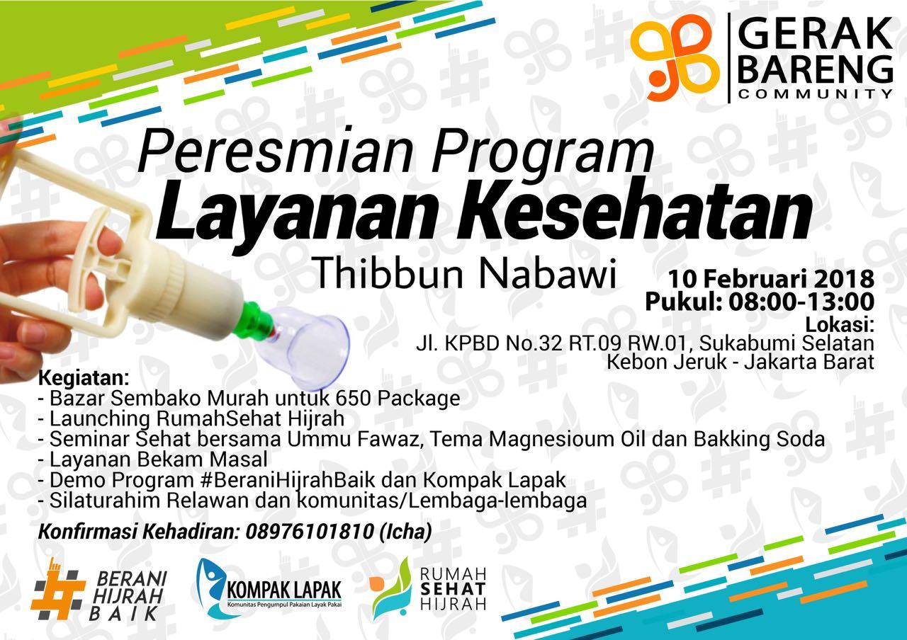 """Peresmian Program Layanan Kesehatan """"Thibbun Nabawi"""""""
