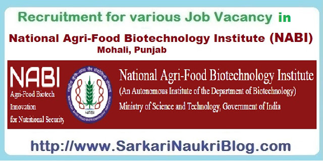 Sarkari-Naukri recruitment NABI Mohali