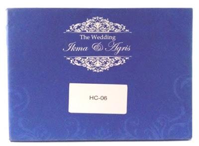 Undangan Pernikahan Warna Biru