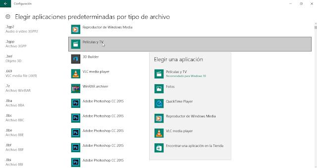 quitar programa predeterminado para abrir archivo windows 10