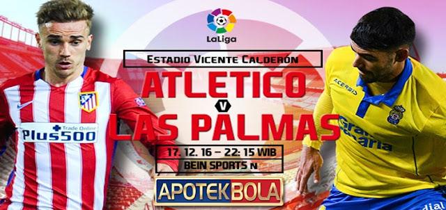 Prediksi Pertandingan Atletico Madrid vs Las Palmas 17 Desember 2016