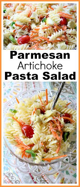 Parmesan Artichoke Pasta Salad
