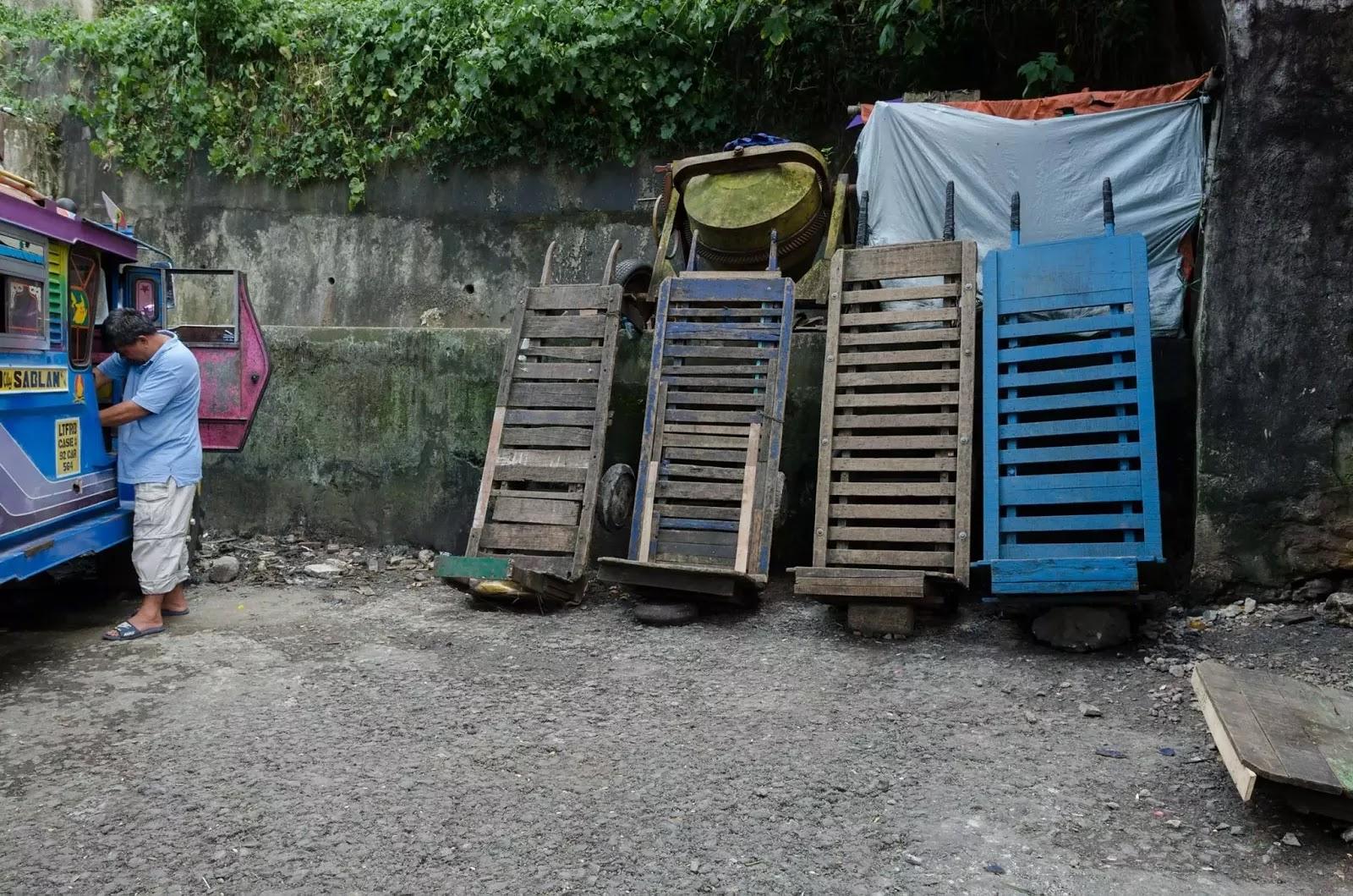 Porter Carts Abanao Baguio City Public Market Cordillera Administrative Region Philippines