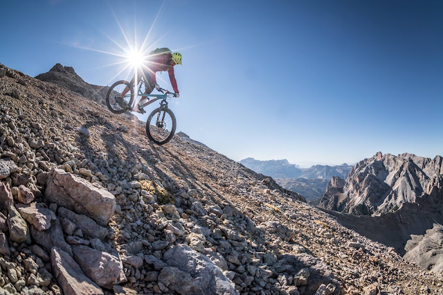 Downhill Trail Monte Ciaval Pederü Hütte