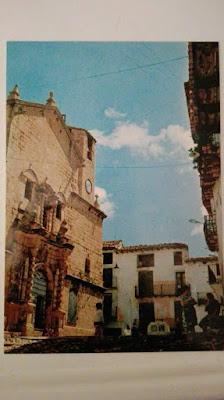 Postal, Beceite, Beseit, iglesia, plaza, casa foz, Mercedes del forn