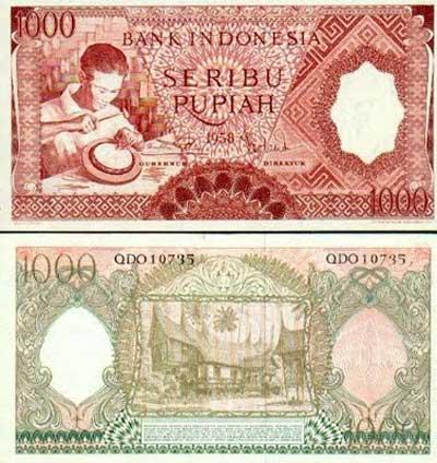 Uang Rp 1000,00 Tahun 1958